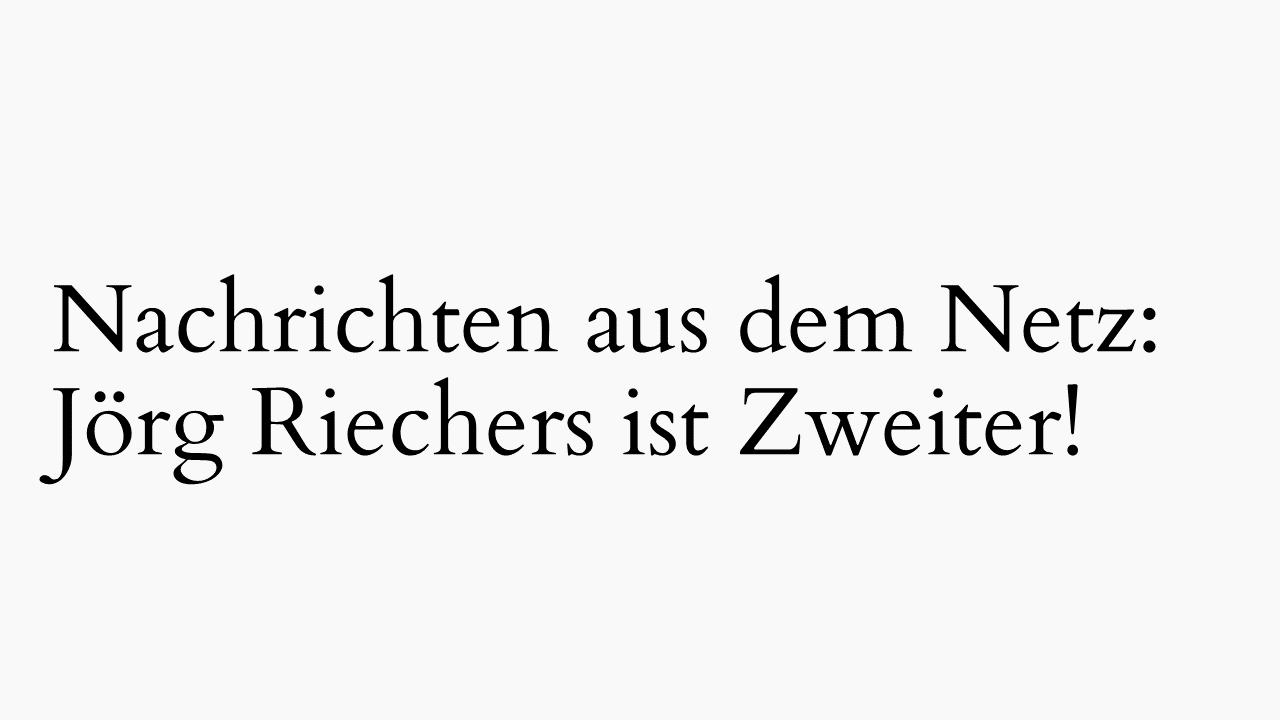 Jörg Riechers ist Zweiter